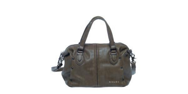 Dámská šedo-hnědá kabelka s ramenním popruhem Sisley