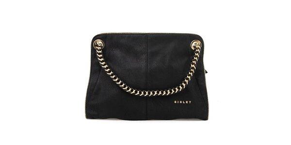 Dámská černá kabelka s kombinovaným poutkem Sisley