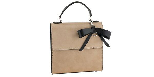 Dámská béžová kabelka s černou mašlí Tina Panicucci