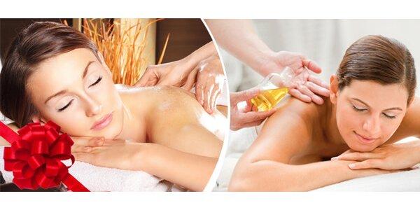 Relaxační masáž zad, šíje a nohou - masážní olej dle vlastního výběru