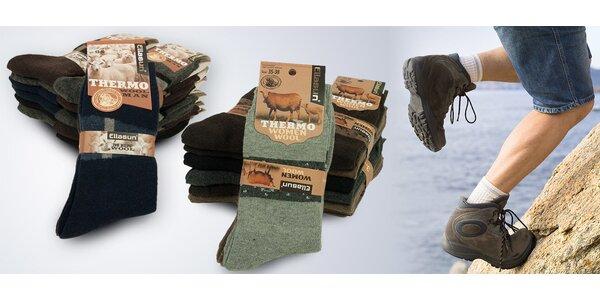 8c2105907c3 6 párů jemných thermo ponožek z vlny
