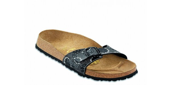 Černé ortopedické pantofle Papillio