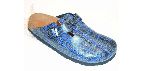 Modré pantofle Papillio s potiskem