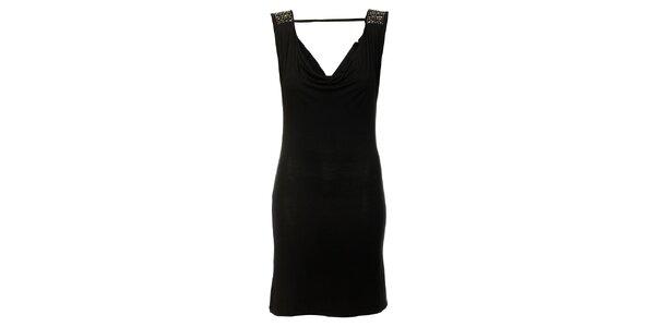 Dámské černé šaty Victoria Look s korálky