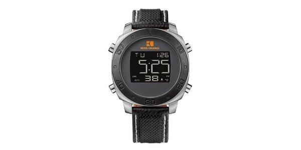 8af319b3ab0 Pánské černé digitální hodinky Hugo Boss Orange