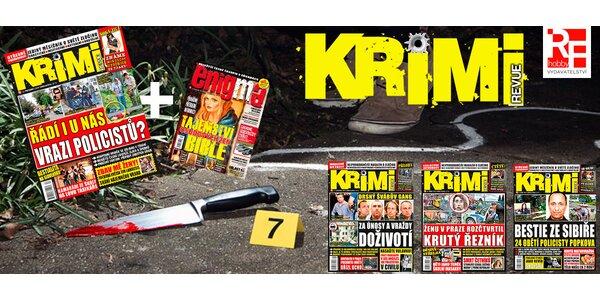 Pololetní předplatné časopisu Krimi revue + bonusy