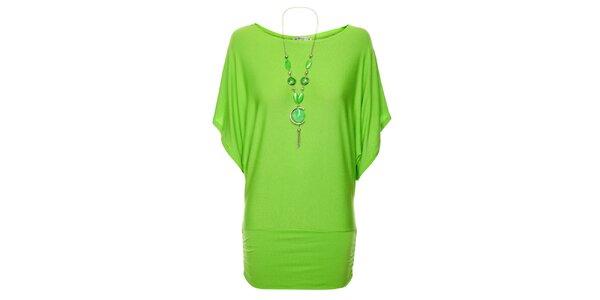 Dámský dlouhý zelenkavý top Victoria Look
