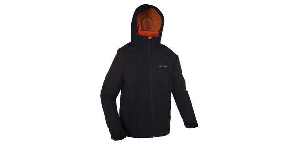 Pánská černá outdoorová bunda s kapucí Kilpi
