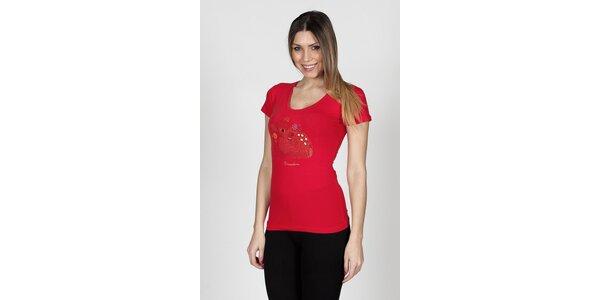 Dámské červené tričko Braccialini s kolouškem