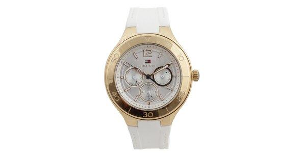 Dámské analogové hodinky se silikonovým řemínkem Tommy Hilfiger
