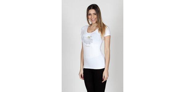 Dámské bílé tričko Braccialini se sedmikráskou