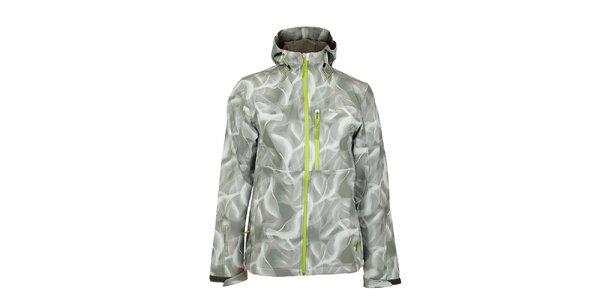 Pánská šedo-bílá softshellová bunda Loap