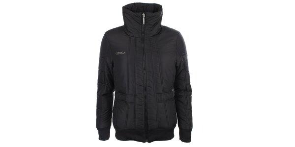 Dámská černá zimní bunda s vysokým límcem Loap