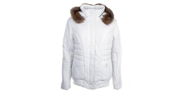Dámská bílá bunda s kapucí Loap