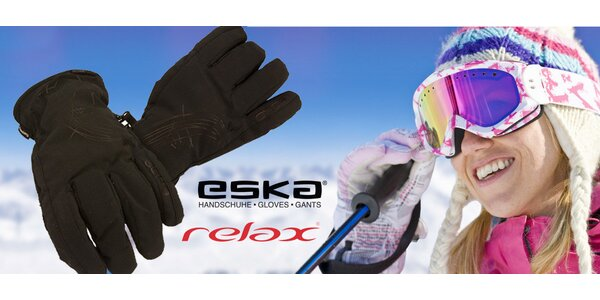 Kvalitní dámské lyžařské rukavice Eska