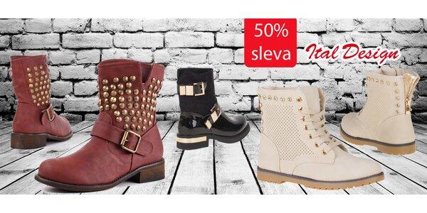Kotníkové boty z ItalDesign s 50% slevou