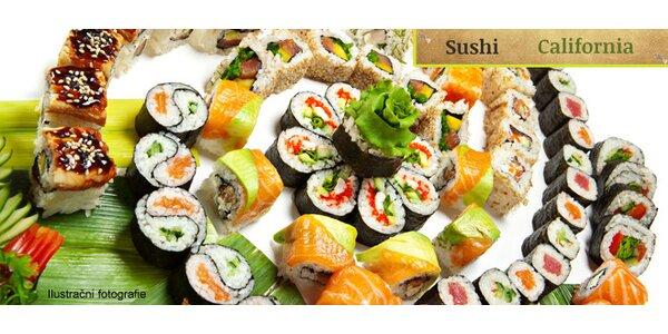 Čtyři bohatá sushi menu v restauraci Sushi Califonia