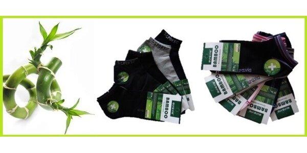5 párů kotníčkových ponožek z bambusového vlákna.