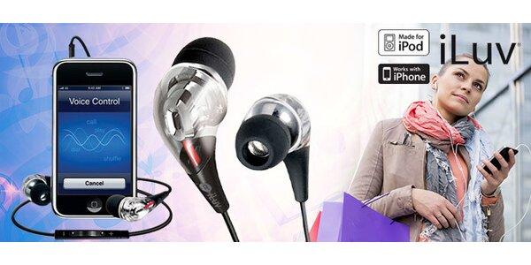 Špuntová sluchátka iLuv nejen pro Apple