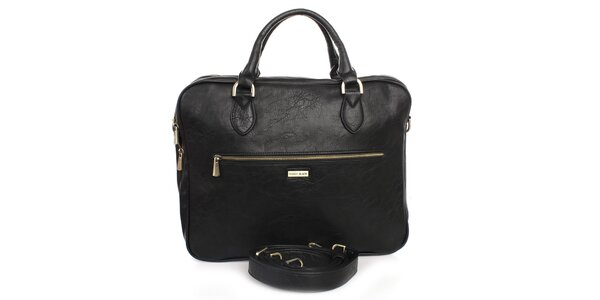 Černá taška na laptop Bobby Black