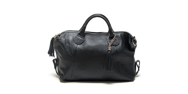 Dámská černá kabelka se střapci Mangotti