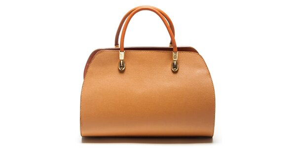 Dámská koňaková kufříková kabelka Mangotti