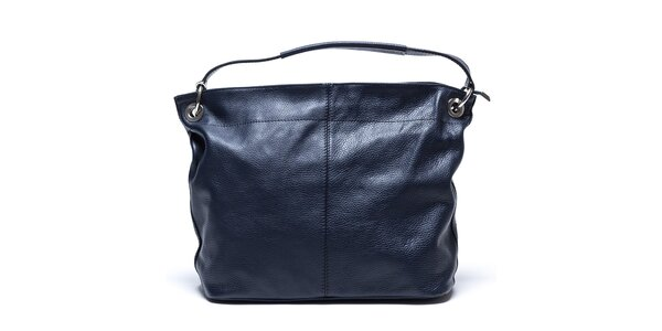Dámská tmavě modrá kabelka s vnější kapsičkou Mangotti