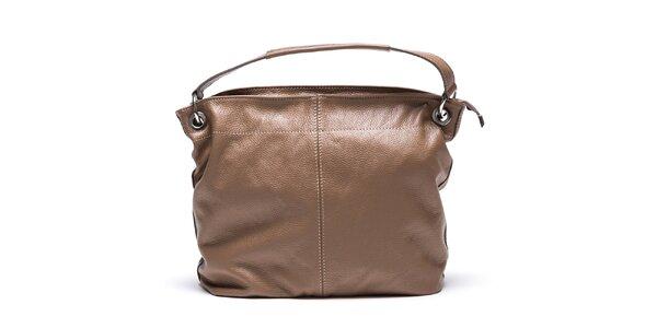 Dámská hnědá kabelka s vnější kapsičkou Mangotti