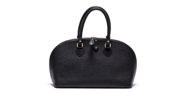 Dámská černá kožená kabelka se zipem Mangotti