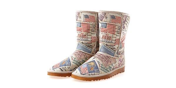 Dámské boty s barevným potiskem Elite Goby