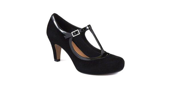 Dámské černé semišové retro boty Clarks