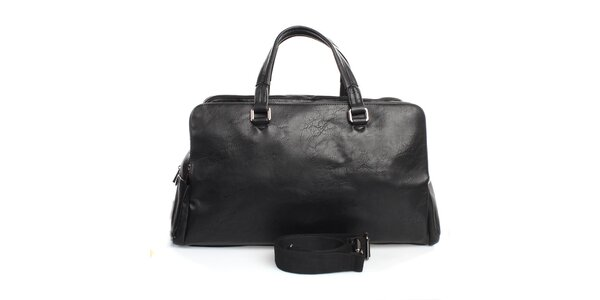 Černá taška se třemi kapsami na zip Bobby Black