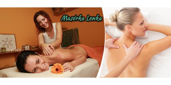 Indonéská či lymfatická masáž dle výběru
