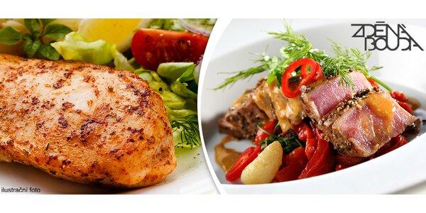 Gurmánské menu pro dva v restauraci Zděná Bouda