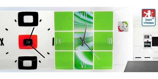 Designové hodiny. Ruční výroba ze skla