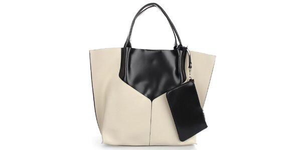 Dámská béžovo-černá taška Gorétt