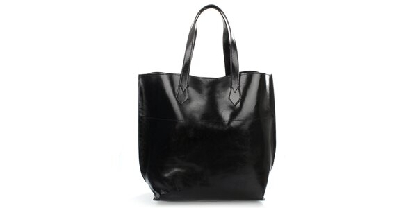Dámská černá lesklá taška Gorétt