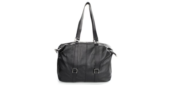 Dámská černá kabelka na zip Gorétt