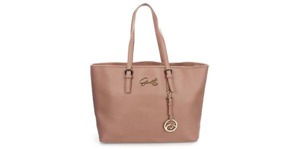 Dámská růžová kabelka s přívěskem Gorétt
