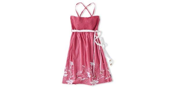 Dámské růžové šaty Brunotti s bílým potiskem