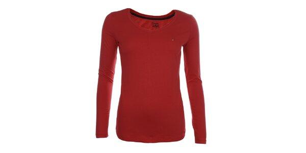 Dámské červené tričko Tommy Hilfiger