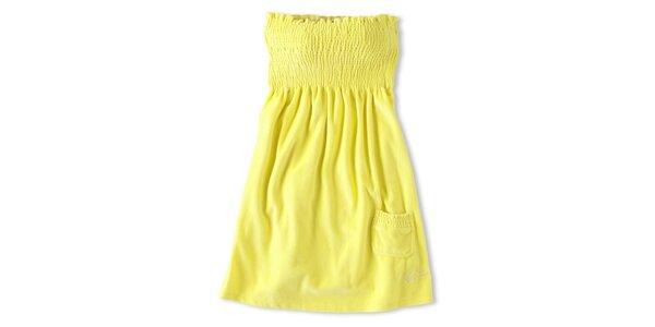 Dámské kanárkově žluté šaty Brunotti