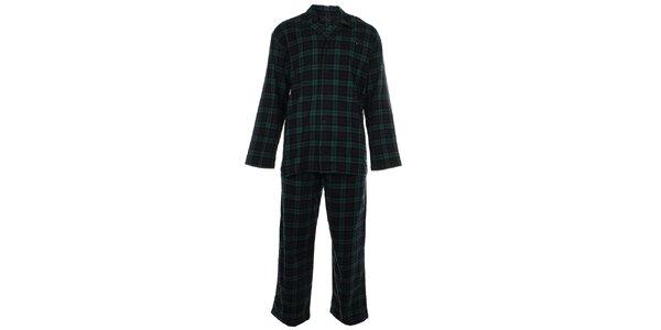 Pánské modro-zelené kárované pyžamo Tommy Hilfiger