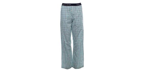 Pánské světle modré kárované pyžamové kalhoty Tommy Hilfiger