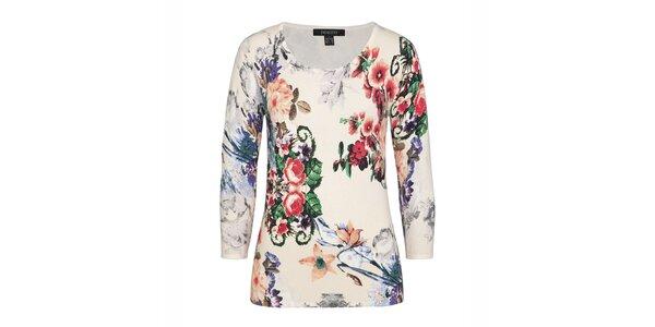 Dámský barevný svetřík s květinovým vzorem Imagini