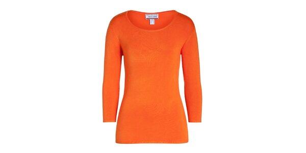 Dámský oranžový svetřík s 3/4 rukávem Imagini