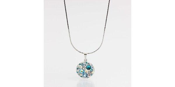 Dámský náhrdelník s tyrkysovými krystaly Laura Bruni