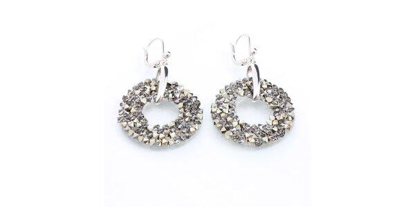 Dámské kruhové náušnice s krystaly Laura Bruni