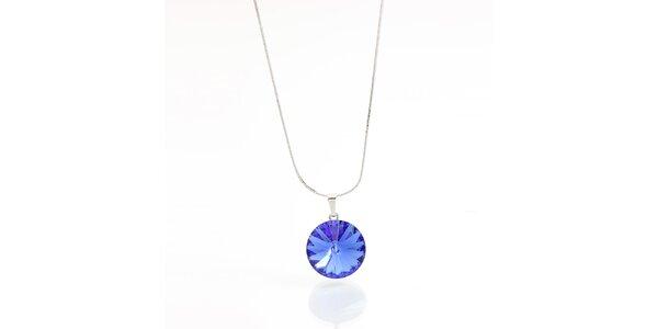 Dámský náhrdelník s modrým krystalem Laura Bruni