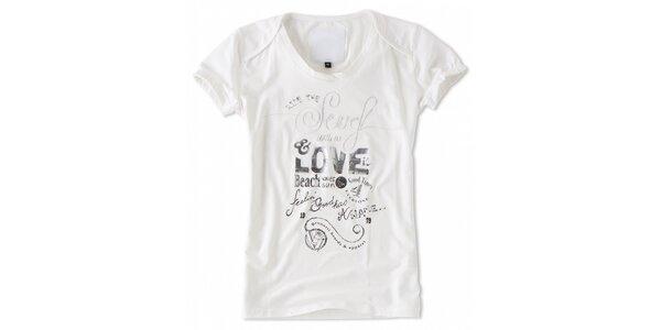 Dámské bílé tričko s krátkými rukávy Brunotti